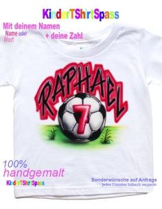 Kinder T-Shirt - Dein Name und der Roboter 1