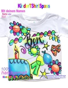 Kinder T-Shirt mit Namen - Dein Name und der Roboter 6
