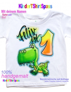 Kinder T-Shirt - Dein Name und die Party-Maus