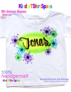 Kinder T-Shirt - Dein Name und die Party-Hund