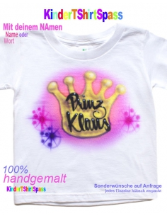 Kinder T-Shirt -Dein Name und der Party-Hase
