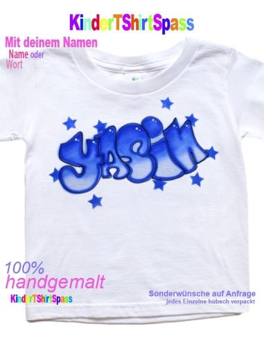 Graffiti für Kinder mit Sternen blau