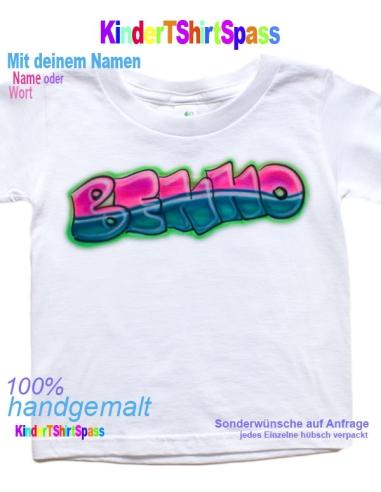 Graffiti Buchstaben Kinder T Shirt