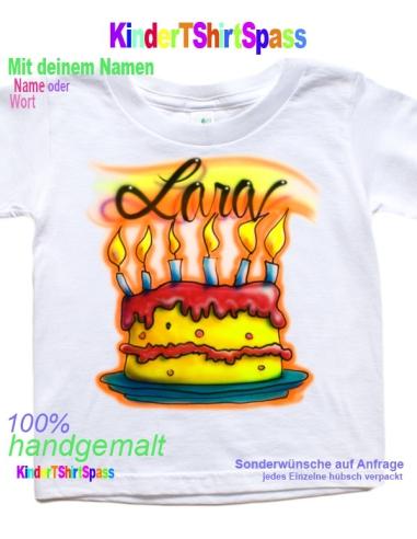 Kinder T-Shirt - Dein Name mit Smiley 9er Geschenke für Kinder