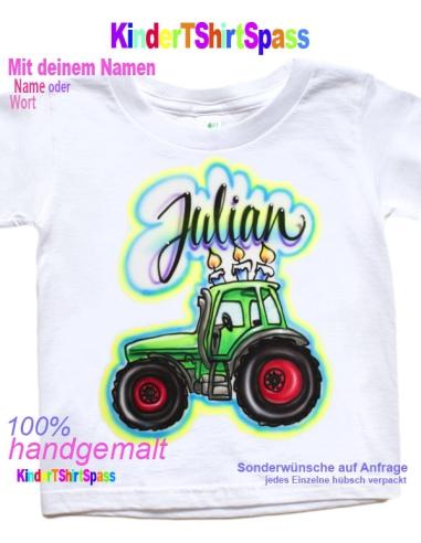 Traktor T-Shirt personalisiert. Trecker Shirt