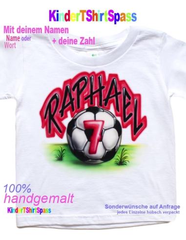 Personalisierte Fußball Geschenke Kinder Fußball T Shirt