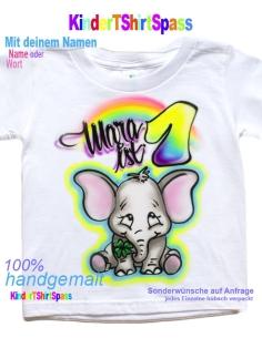 Kinder T-Shirt - Dein Name und die Party-Bär