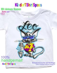 """Kinder T-Shirt mit Namen - Dein Name und die Katze """"Kate"""""""