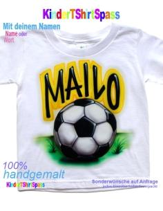 Kinder T-Shirt mit Namen - Dein Name und der VW Käfer
