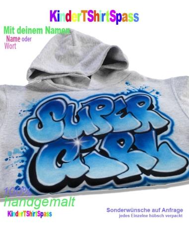 Graffiti Hoodie Kinder Geschenk personalisiert
