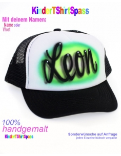 Graffiti T-Shirt für Kinder Neon Bubble Letters