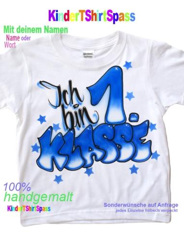Geschenk 1 Schultag Kinder T Shirt