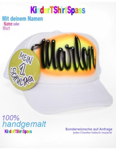 Kinder T-Shirt mit Namen - Dein Name in Perlenwaldschrift Geschenke für Kinder